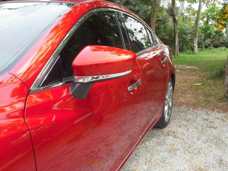 Хром полоски на зеркала заднего вида Mazda 6 (2012-2015), фото 2