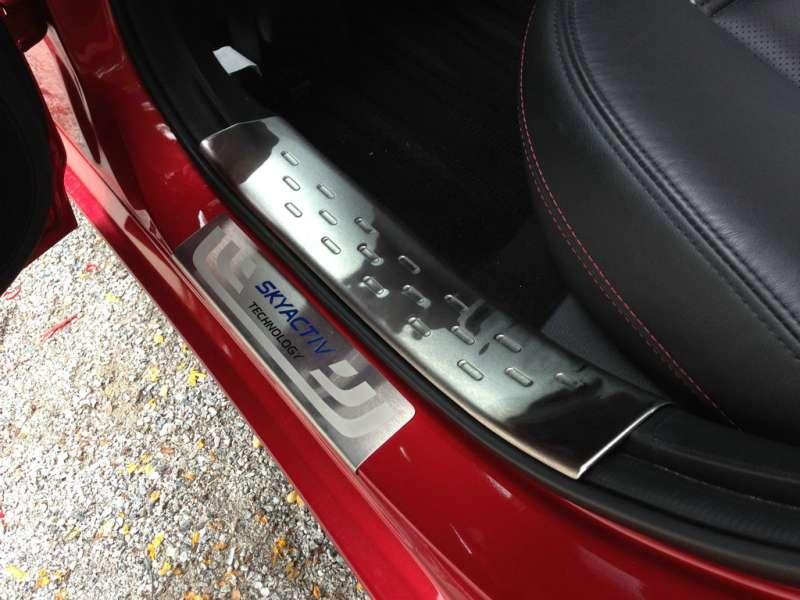 Накладки на внешние пороги (нерж.) на Mazda 6 (2012-2015), фото 3