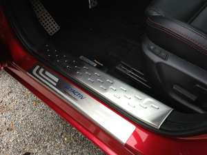 Накладки на внутренние пороги (нерж.) на Mazda 6 (2012-2015)