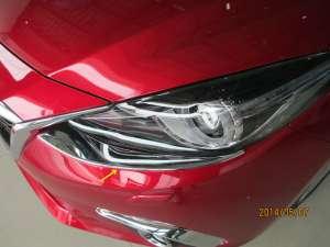 Хромированные накладки на передние фары Mazda 3 (2013-2016)