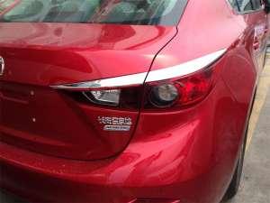 Хромированные накладки на задние фары Mazda 3 (2013-2016)