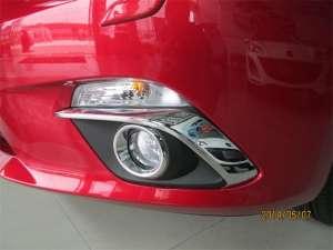 Накладки на передние ПТФ Mazda 3 (2013-2016)