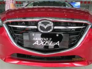 Накладки на решетку радиатора Mazda 3 (2013-2016)