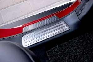Накладки на внутренние пороги (нерж.) Mercedes-Benz GL (2012-2015)