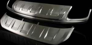 Защитная накладка бампера Audi Q7 II (2015+)