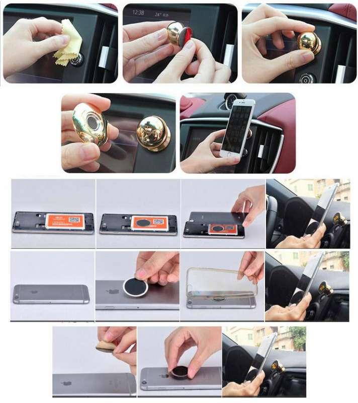 Магнитный держатель для телефона (Золото), фото 3