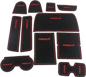 Коврики в подстаканники и в дверные ниши Mazda 6 (2005-2008)