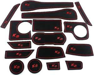 Коврики в подстаканники и в дверные ниши Kia Rio 3 рестайлинг (1.4 л)