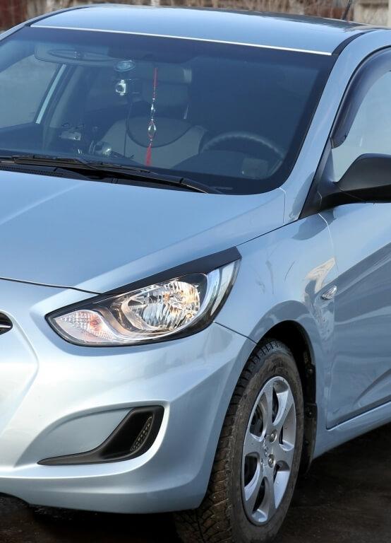 Передние реснички Hyundai Solaris