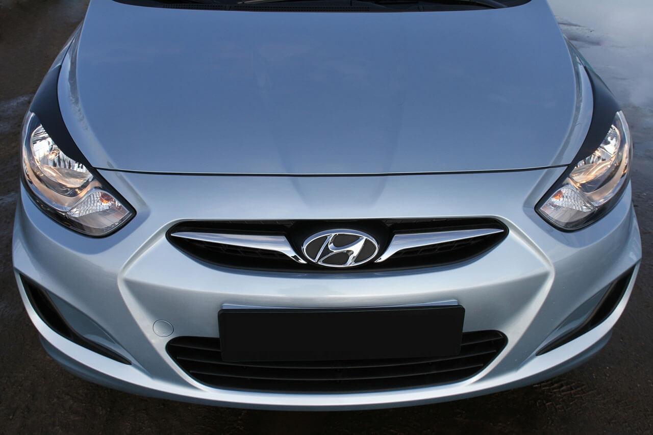 Передние реснички Hyundai Solaris , фото 2