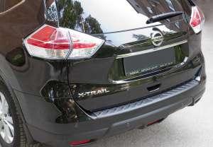 Пластиковая накладка на бампер Nissan X-trail 2015+