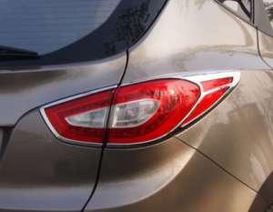 Хромированные накладки на задние фары Hyundai IX35 (2013-2015)